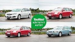 Käytetyt alle 5 000 euron farkut: VW Golf / Volvo V70 / Opel Vectra / Toyota Avensis