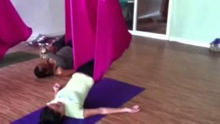 Aerial restorative yoga