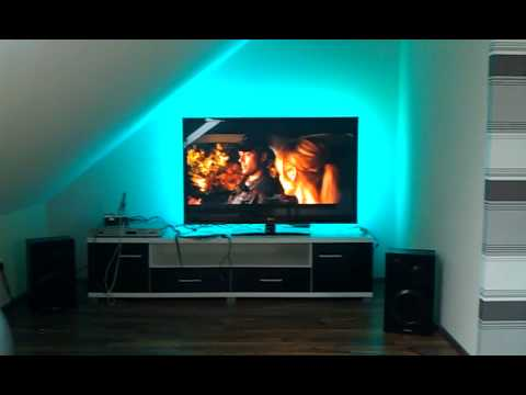 ambilight selber bauen led hintergrundbeleuchtung f r den tv. Black Bedroom Furniture Sets. Home Design Ideas