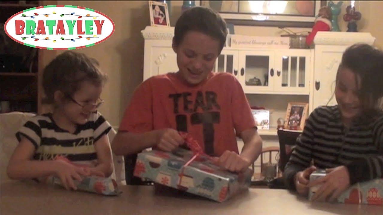 YouTube Gift Exchange | Opening Christmas Presents | A Bratayley ...