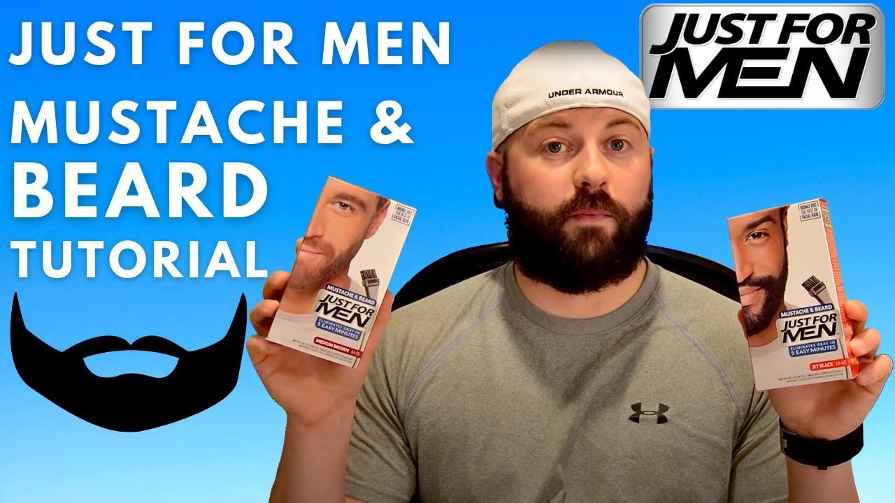Just For Men Mustache Beard Dye Tutorial Youtube
