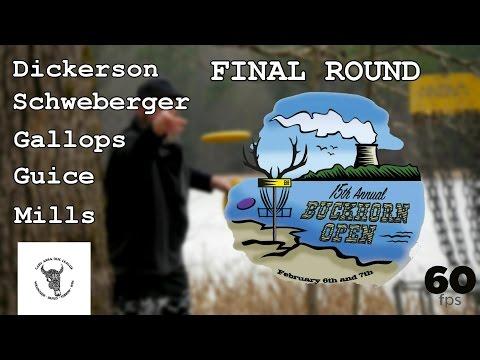 15th Buckhorn Open (2016): Final Round (Dickerson, Gallops, Schweberger, Mills, Guice) (60fps)
