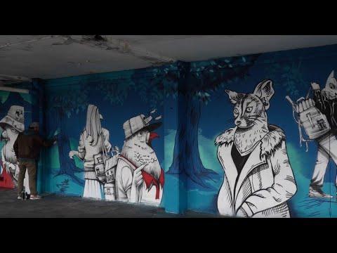 La Belle Cité - fresque participative à Jean-Monnet