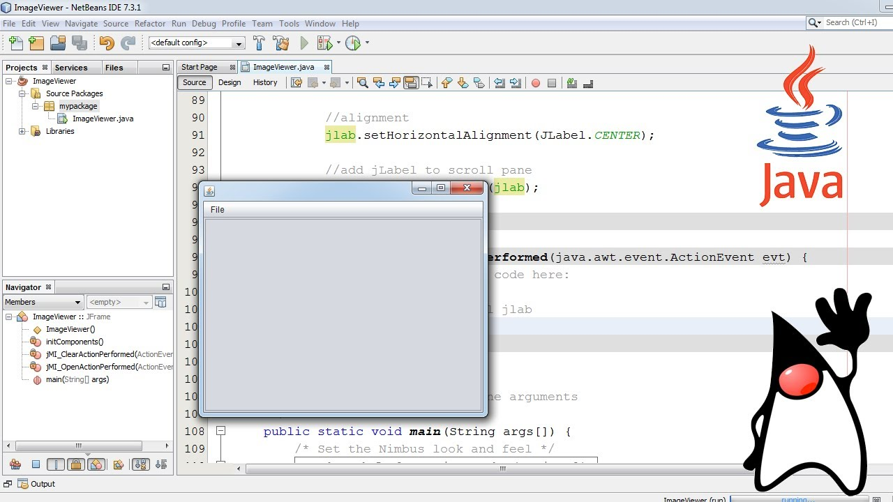 java imageviewer in java swing