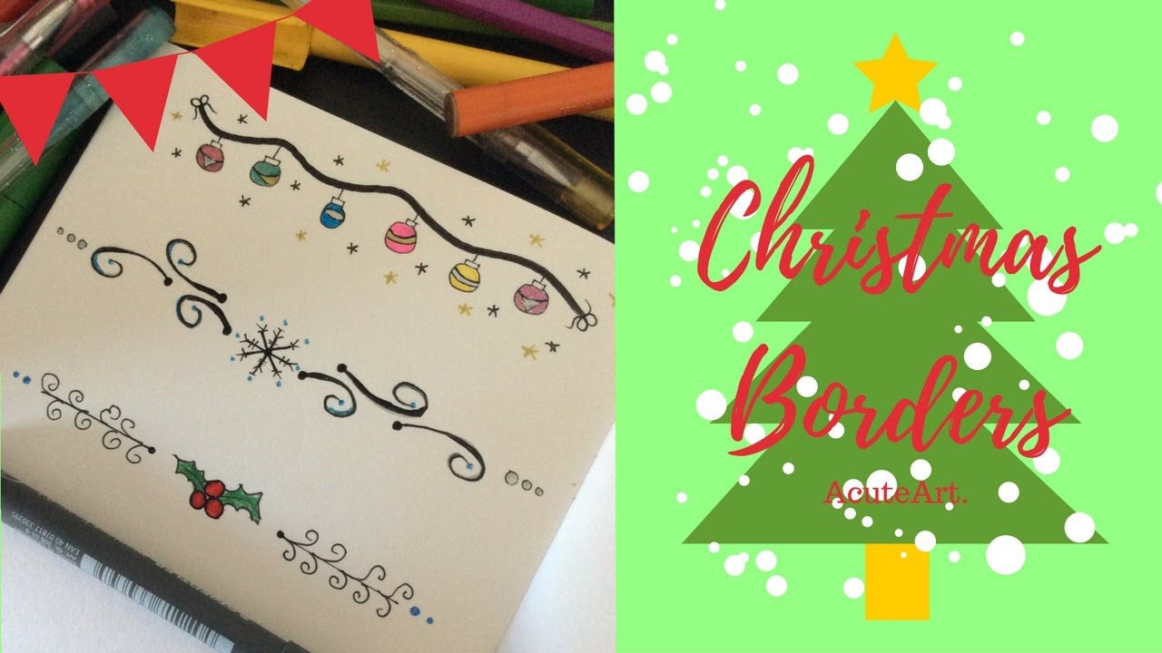 Christmas Border Design.3 Easy Christmas Border Designs