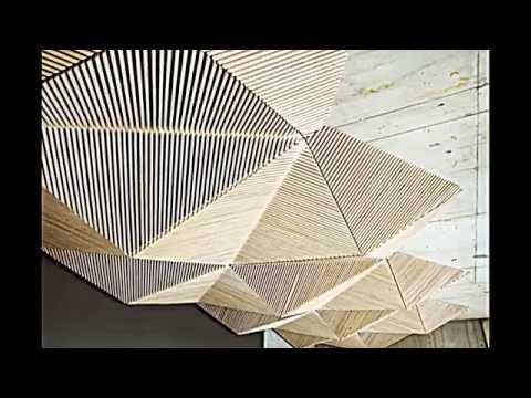 Holz Decke Betonwand Pflanzen stilvolle Büro