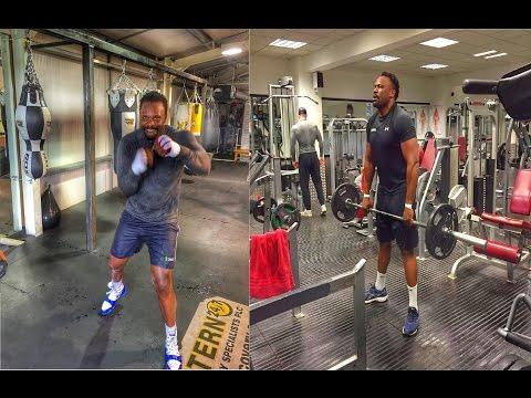 Dereck Chisora Boxing training