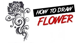 How to draw a rose flower live stream