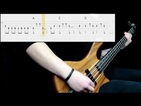 Guns N' Roses - Sweet Child O' Mine (Bass Only) (Play Along Tabs In Video)