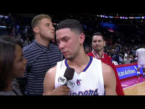 Blake And JJ Video Bomb Austin River's Post-game Interview
