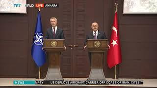 Cavusoglu, NATO chief address media