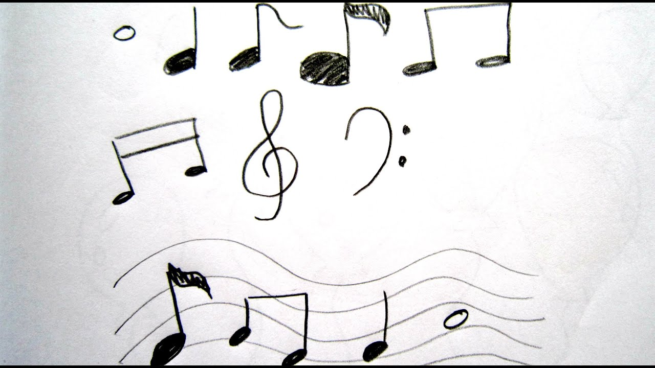 How to Draw Cartoon Music Notes 畫卡通音符 - Easy Drawing ...