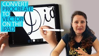 Gambar cover Procreate Lettering : Convert to Vector on the iPad (image trace)