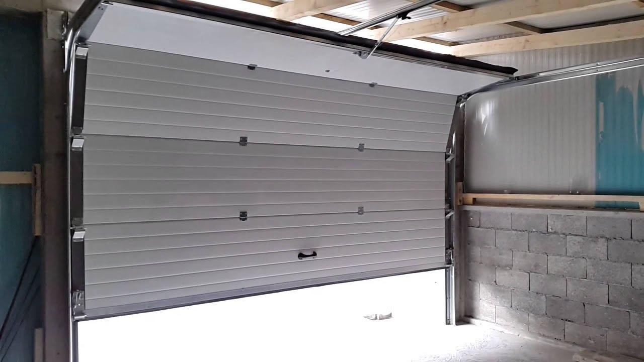 Segmentna garazna vrata  Mis Stolarija Loznica otvaranje