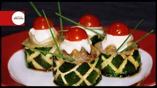 Резные фаршированные кабачки / Праздничные блюда / Food Art
