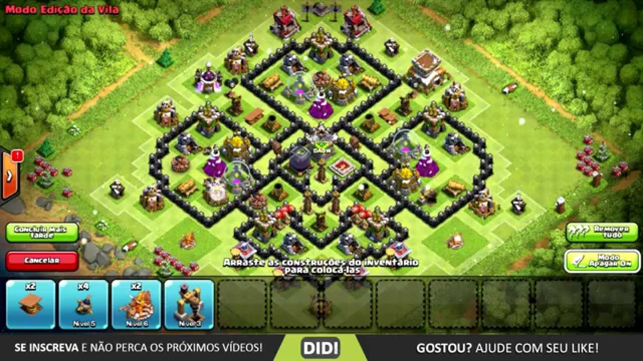 layout farm push cv 8 th 8 layout clash of clans youtube