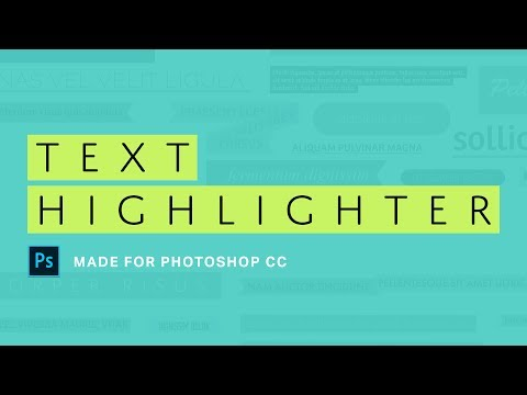 HIGHLIGHT your text with these Photoshop ACTIONS!