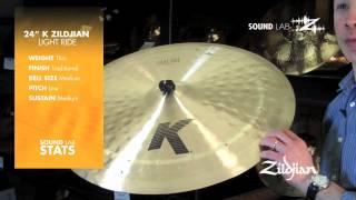 "Zildjian Sound Lab - 24"" K Zildjian Light Ride"
