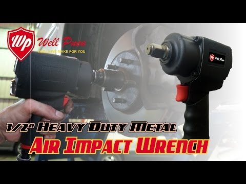 "WellPneu - 1/2"" Heavy Duty Metal Air Impact Wrench [ Vehicle Service ]"