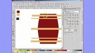 Inkscape - Wooden Barrel