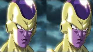 [3D SBS] Golden Frieza Vs Goku in 3D