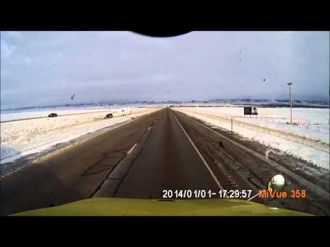 BAD ROAD CONDITIONS ON I-80 IN WYOMING