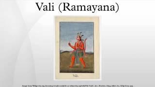 Vali (Ramayana)