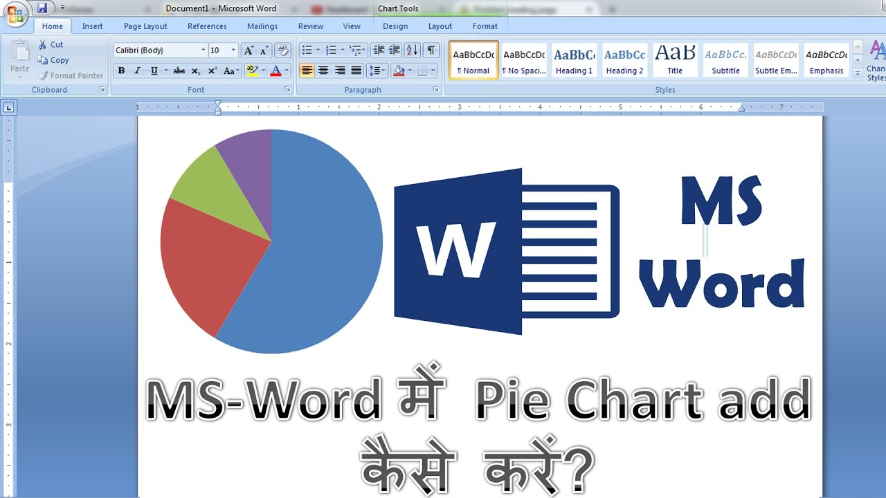 How to make pie chart in word