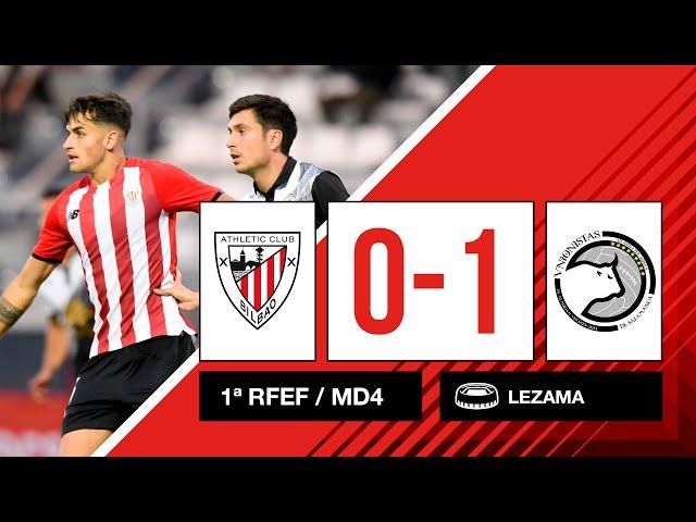 ⚽ Resumen I 4. J - 1ª RFEF I Bilbao Athletic 0-1 Unionistas CF I Laburpena
