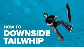 Как сделать Даунсайд Тэйлвип на самокате (How to DS tailwhip on a scooter)