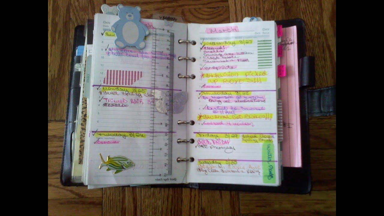 Inside my planner agenda youtube for For planner