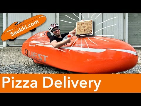 Can You Transport a PIZZA with a Velomobile? 🍕