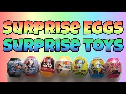 Super Surprise Eggs DC Original Star Wars Despicable Me Brain Blasterz Sour Super Mario Bros Barbie