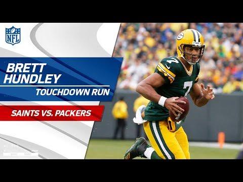 Green Bay Takes the Lead w/ Brett Hundley's Huge TD Scramble!   Saints vs. Packers   NFL Wk 7