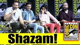 SHAZAM!  | Comic Con 2018 Full Panel (Zachary Levi, Asher Angel, Jack Dylan Grazer)