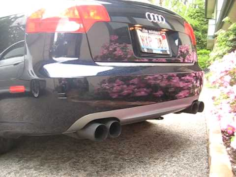 Audi b7 a4 3 2 custom quad tip exhaust set up youtube for Mueble 2 din audi a4 b7