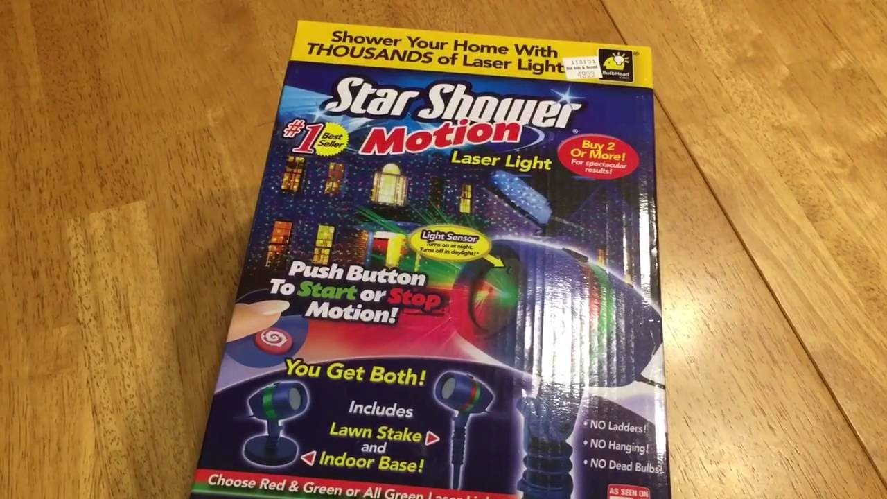 Star Shower motion laser lights Christmas lights as seen on TV NEW ...