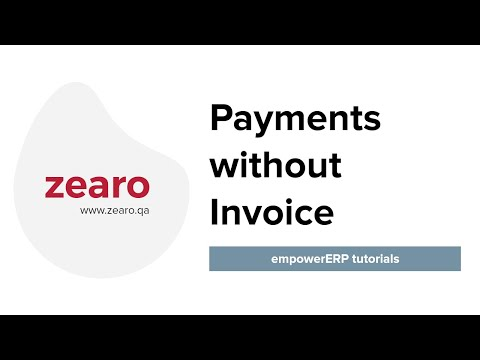 How to do Payment without Invoice