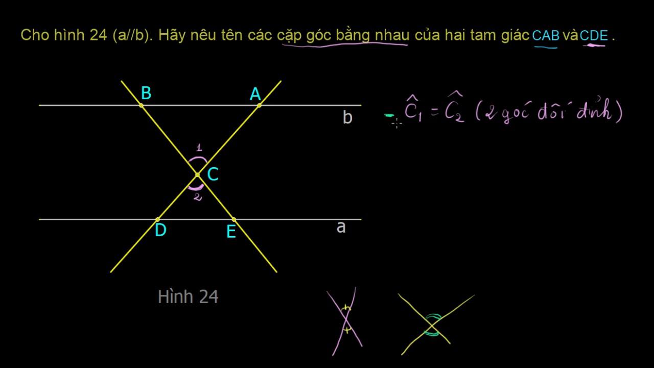 Tiên đề Ơ clit về đường thẳng song song | bài 37