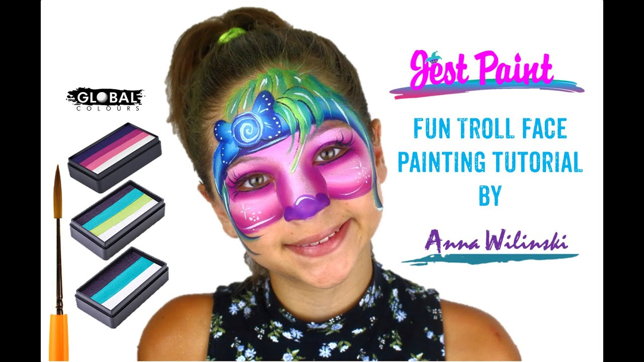 Cute Troll Face Painting Tutorial YouTube
