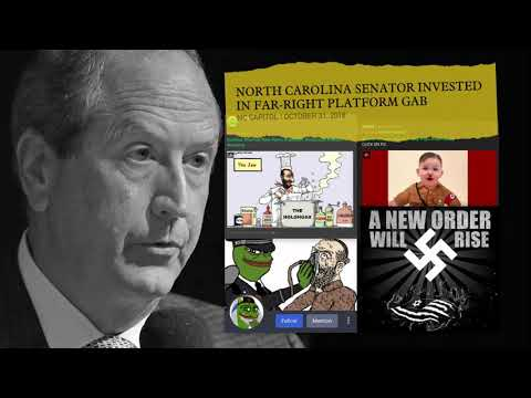 New ad in NC9 focuses on Bishop's investment in a media platform used by extremists