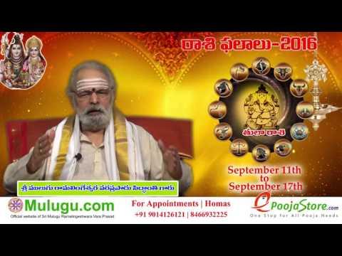 Tula Rasi (Libra Horoscope) - September  11th - September 17th