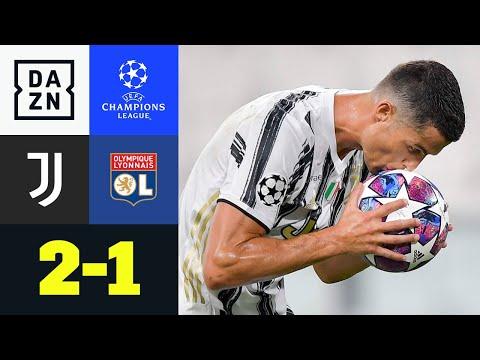 CR7-Doppelpack reicht nicht! Lyon im 1/4-Finale: Juventus - Lyon 2:1   UEFA Champions League   DAZN