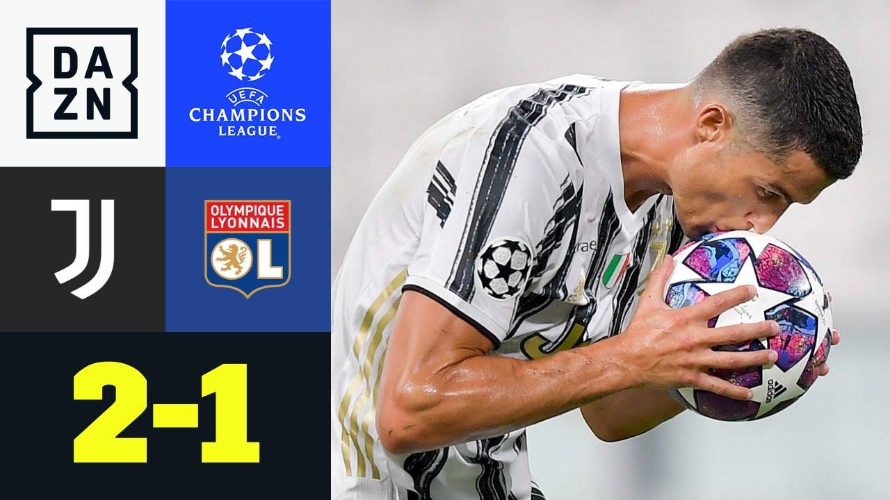 CR7-Doppelpack reicht nicht! Lyon im 1/4-Finale: Juventus - Lyon 2:1 | UEFA Champions League | DAZN