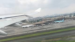 Philippine Airlines Airbus A340-300 Takeoff from Manila Ninoy Aquino Airport