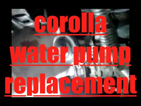 Diy How To Install Replace The Water Pump Toyota Corolla