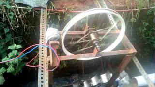 water wheel mini generator