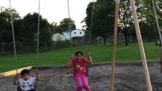 Swinging competition for kids 07/20/2015
