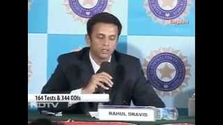 Rahul Dravid Announces Retirement - Press Conference