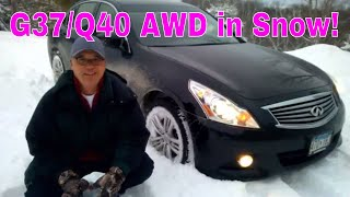 "Infiniti G37x (Q40) AWD in 8"" of Snow"
